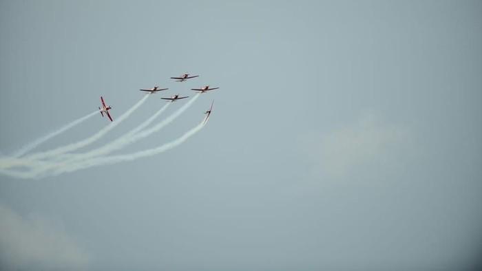 Tim Jupiter TNI AU beraksi di langit Singapura/Foto: Dok TNI U