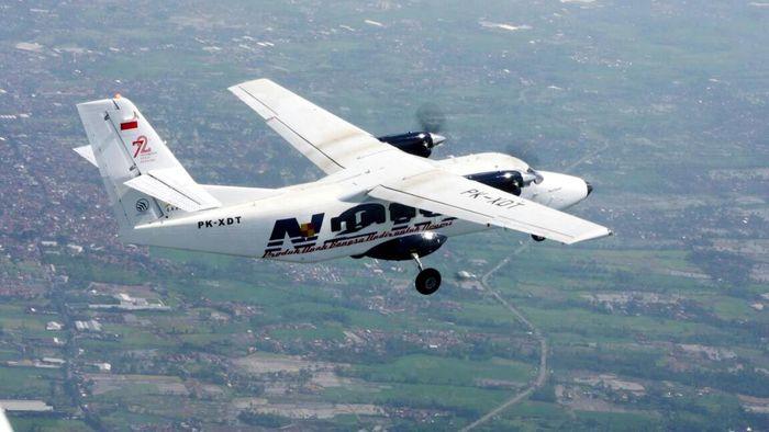 Pesawat N219 Nurtanio sampai saat ini sudah melakukan 14 kali uji terbang dengan total waktu 17 jam. Pool/PT Dirgantara Indonesia.