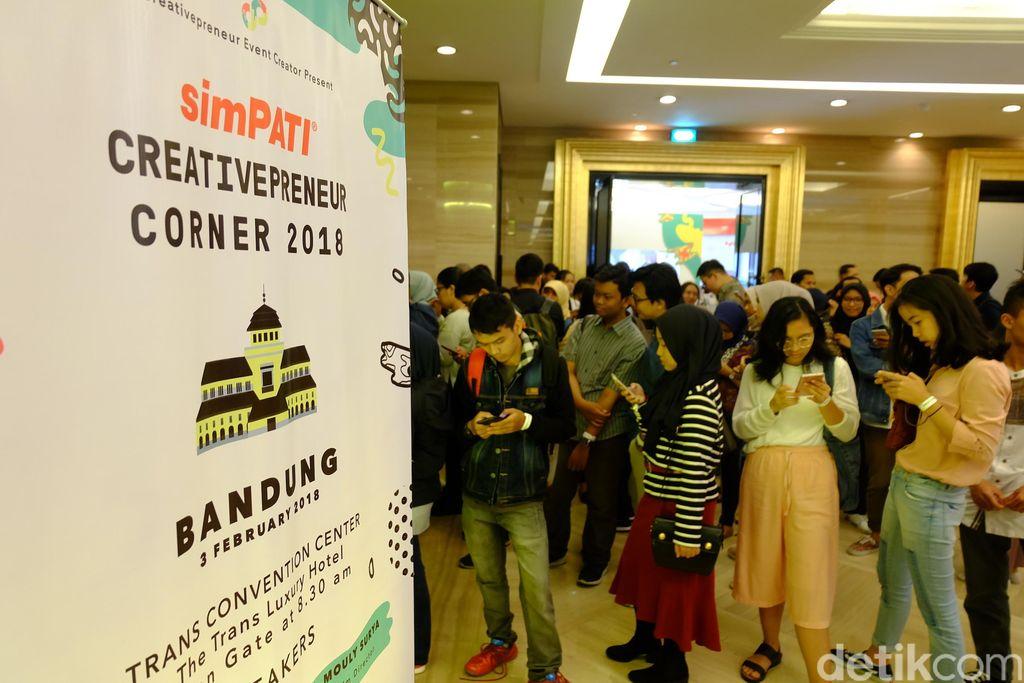 Bandung menjadi kota terakhir penyelenggaraan Creativepreneur Corner 2018. Foto: detikINET/Rachmatunnisa