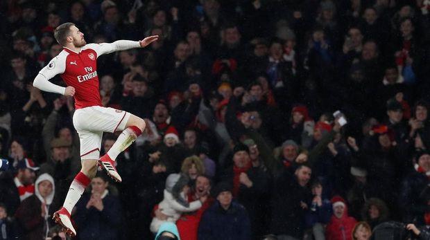 Aaron Ramsey kerap memakan korban seusai mencetak gol.