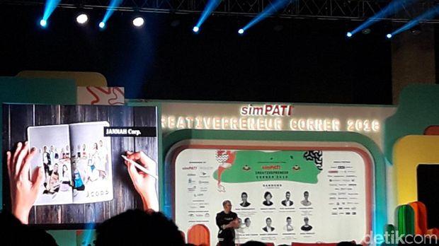 Irwansyah saat berbicara di acara Creativepreneur Corner 2018