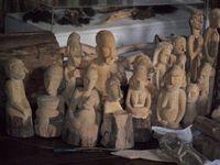 Patung-patung yang dibuat suku Asmat (Harley Bayu Sastha/ACI)