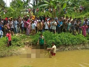 Diduga Dibunuh, Wanita Hamil Ditemukan Tewas di Sungai Langkahan