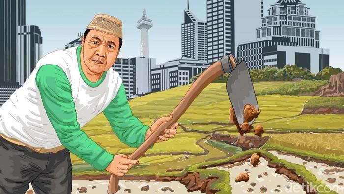 Ilustrasi petani terakhir di Jakarta