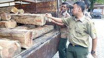 Puluhan Kayu Jati Diduga Hasil Curian Diamankan di Grobogan