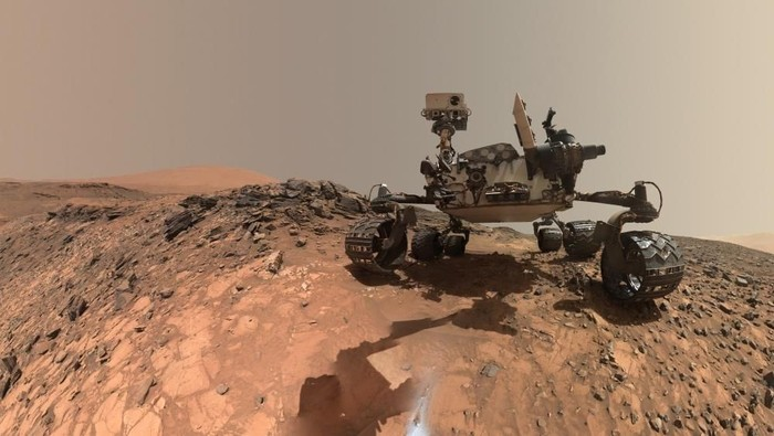 Robot Curiosity di Mars. Foto: NASA