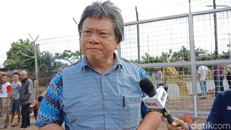 Ombudsman Datangi Lokasi Longsor Underpass Bandara Soetta