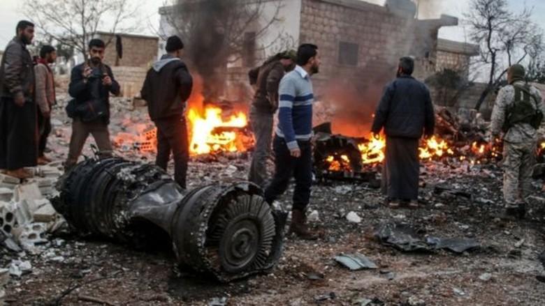Pilot Rusia Ledakkan Granat Agar Tak Ditangkap Pemberontak Suriah