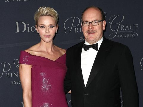 MONACO - NOVEMBER 19:  Princess Charlene of Monaco attends the Monaco National Day Celebrations in the Monaco Palace Courtyard on November 19, 2016 in Monaco, Monaco.  (Photo by Pascal Le Segretain/Getty Images)