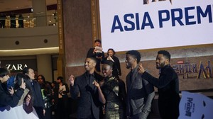 Penggemar Sambut Meriah Asia Premiere Black Panther di Seoul