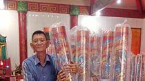 100 Lilin Jumbo Seharga Rp 3 Juta/Batang Hiasi Kelenteng di Tarakan