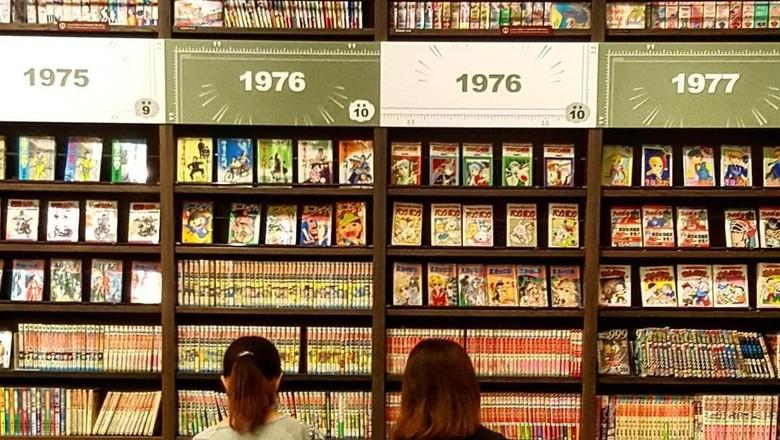 Ratusan ribu koleksi komik dan manga di Kyoto International Manga Museum (pano.apos/Instagram)