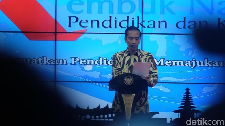 Di Acara Kemdikbud, Jokowi Soroti Kasus Guru Tewas Dianiaya Siswa