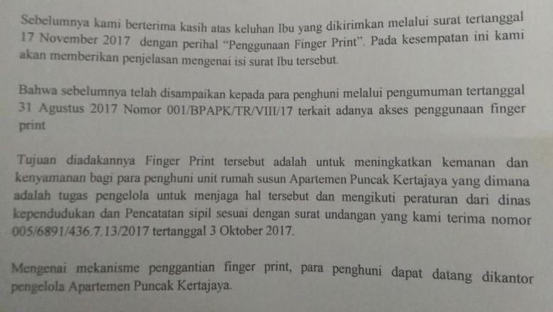 Pemkot Surabaya Tak Pernah Wajibkan Apartemen Gunakan Fingerprint