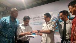 Resmikan OK OCE Laku Pandai, Sandi Ingin Warung di Jakarta Serba Digital