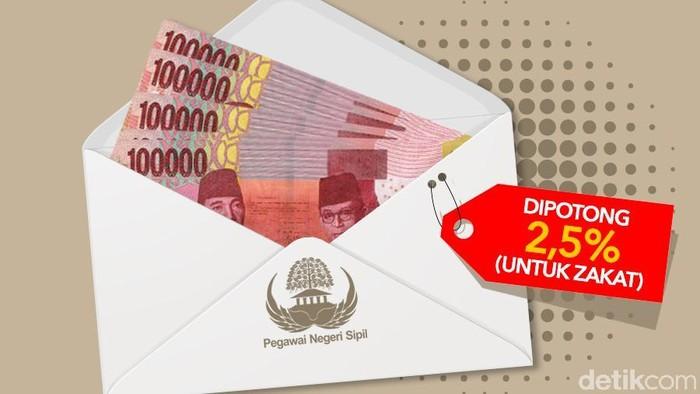Gaji PNS DIpotong 2,5% untuk Zakat