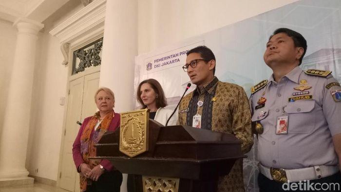 Wagub DKI Jakarta Sandiaga Uno bertemu Duta Besar Swedia untuk Indonesia Johanna Brismar Skoog/Foto: Muhammad Fida Ul Haq