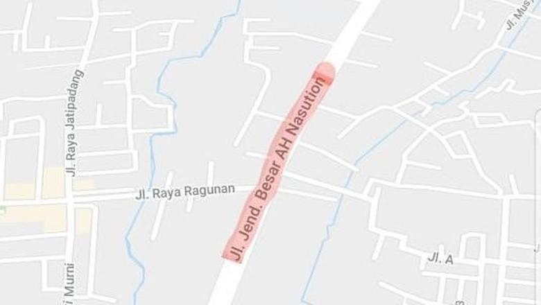 Lho! Jl Warung Buncit Sudah Jadi Jl AH Nasution di Peta Online