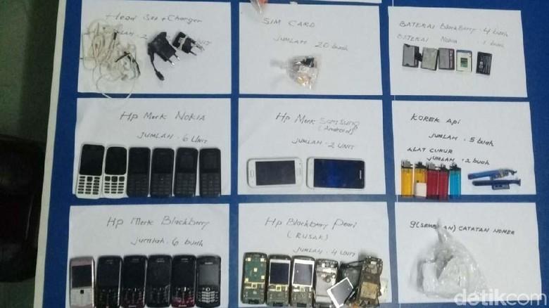Puluhan Ponsel dan SIM Card Disita dari Lapas Narkotika Yogya