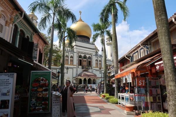 Pada tahun 1822, Sir Stamford Raffles memberikan wilayah ini kepada sultan Melayu yang bernama Sultan Hussain Mohammed Shah. Kemudian ditandai dengan pembangun Masjid Sultan yang menjadi Ikon dari Kampong Glam. (Bonauli/detikTravel)