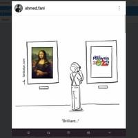 Foto: Ada juga yang mengkritik secara sakastis, kalau logo Visit Malaysia 2020 ini lebih brilian dari lukisan Monalisa karya DaVinci (Instagram/Ahmed Fani)