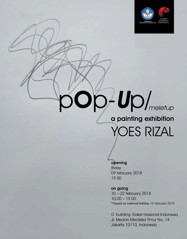 25 Lukisan Abstrak Yoes Rizal Dipamerkan di Galeri Nasional Indonesia