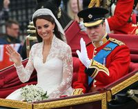Pangeran William dan Kate Middleton di hari pernikahannya.