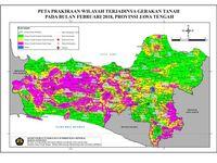 Peta Prakiraan wilayah terjadinya gerakan tanah