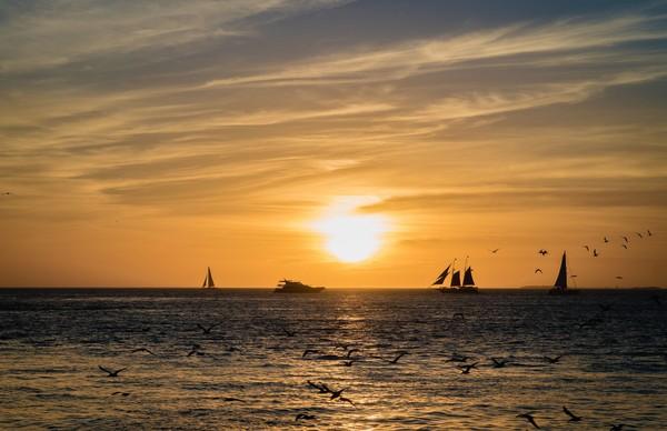 Inilah Key West yang memang sudah tersohor dengan matahari tenggelam dan pantainya. (Thinkstock)