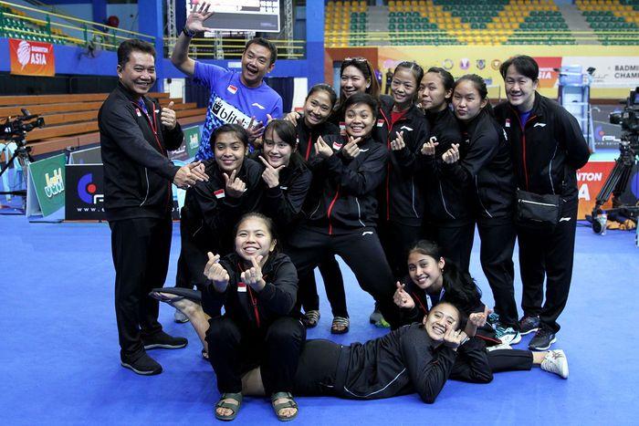 Indonesia berhasil melaju ke babak semifinal Kejuaraan Bulutangkis Beregu Asia 2018 di sektor putri. Srikandi Merah Putih menang 3-1. (dok. Humas PBSI)