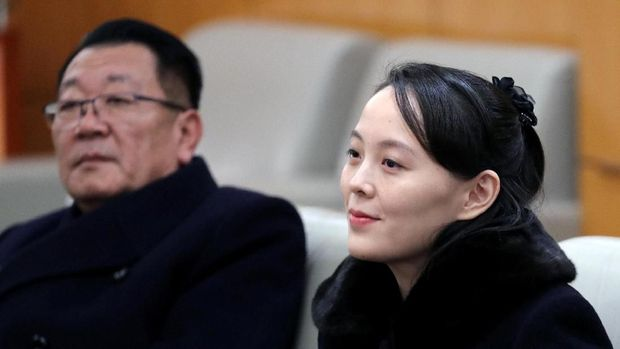 North Korean leader Kim Jong Un's younger sister Kim Yo Jong sits in a meeting room in Incheon, South Korea February 9, 2018. Yonhap via REUTERS     ATTENTION EDITORS - THIS IMAGE HAS BEEN SUPPLIED BY A THIRD PARTY. SOUTH KOREA OUT. NO RESALES. NO ARCHIVE.