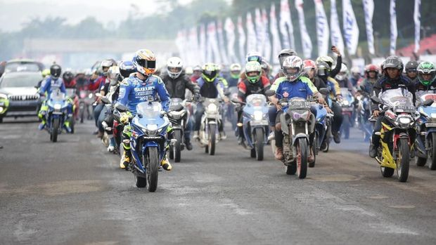 3.000 bikers Suzuki berkumpul di Sirkuit Sentul, Bogor
