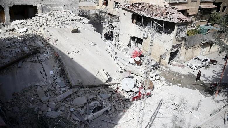 220 Warga Ghouta Timur Tewas Akibat Gempuran 4 Hari Rezim Assad
