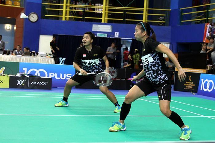 Greysia/Apriyani kerja keras di babak pertama Kejuaraan Bulutangkis Asia. (Foto: Tim Humas Dan Media PP PBSI)