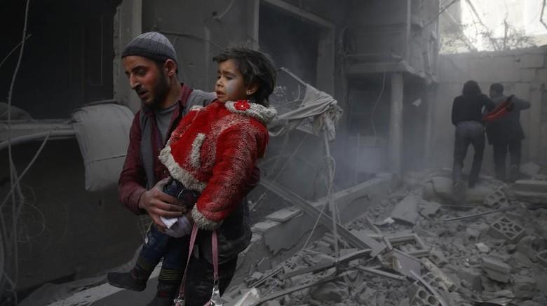 Ghouta Timur Dibombardir Rezim Suriah, Rusia Minta DK PBB Sidang