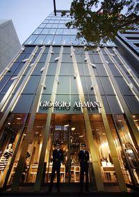 Butik Armani di Ginza, Tokyo.