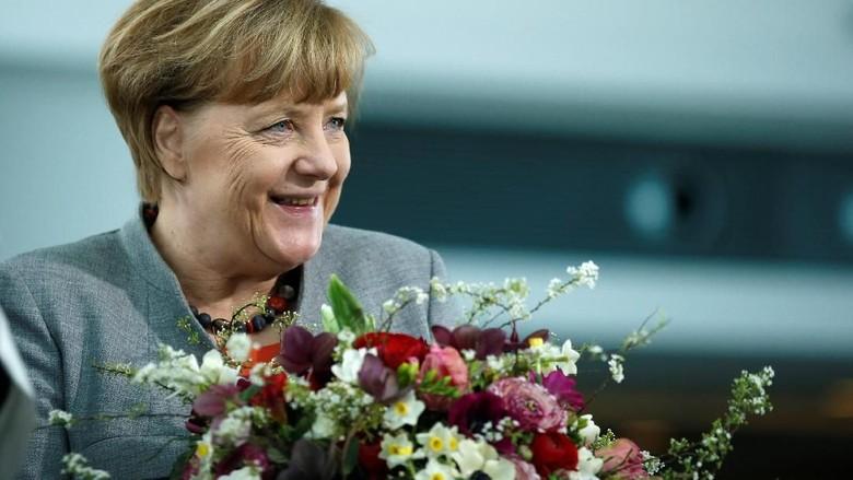 Kanselir Jerman Ucapkan Selamat ke Putin Menangi Pilpres Rusia