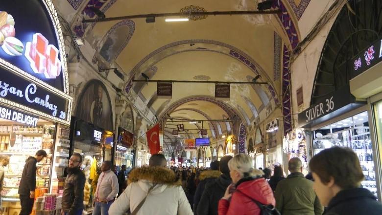 Foto: Suasana di Grand Bazaar, Istanbul (Kurnia/detikTravel)