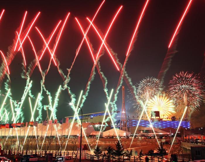 Pembukaan Olimpiade Musim Dingin di Korsel. Foto: Ryan Pierse/Getty Images
