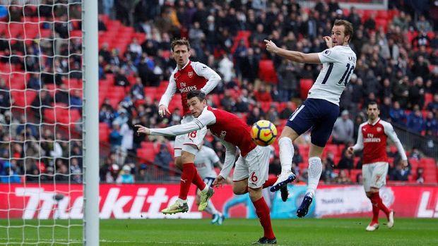 Duel Tottenham Hotspur lawan Arsenal jadi laga dengan penonton terbanyak musim ini.