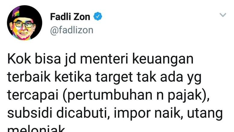 Fadli Zon ke Sri Mulyani: Panas di Medsos, Akur di DPR