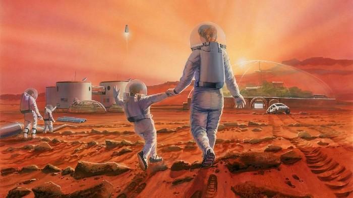 Gambaran kolonisasi manusia ke Mars. Foto: humanmars
