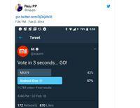 MIUI Dikalahkan Android One, Xiaomi Hapus Tweet Polling