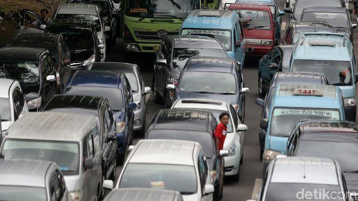 Ilustrasi kemacetan di Jakarta. (Agung Pambudhy/detikSport)