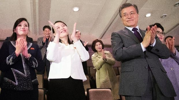 Adik Kim Jong-un Nikmati Konser bersama Presiden Korsel