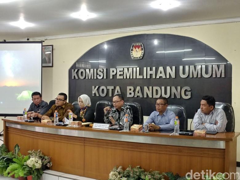 Peserta Pilwalkot Bandung Ditetapkan 3 Pasang, Independen Tak Lolos