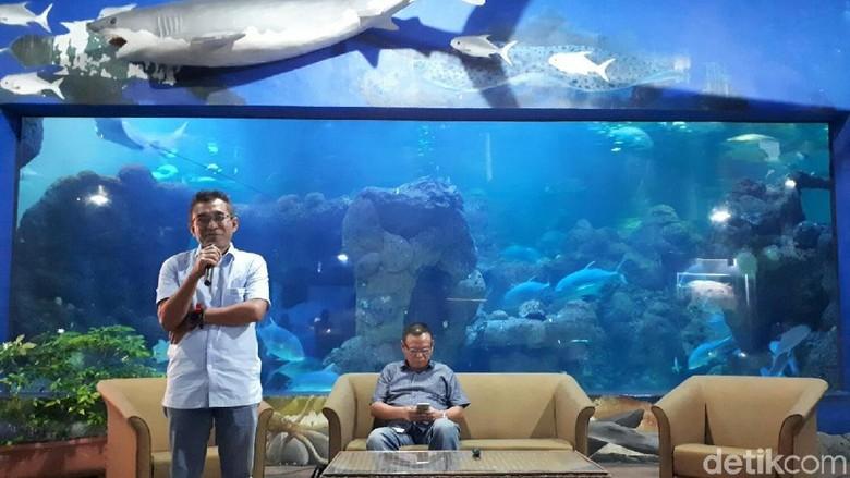 Foto: Suasana jumpa pers di Seaworld (Kurnia/detikTravel)