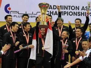 Foto: Tim Putra Indonesia Berjaya di Kejuaraan Bulutangkis Beregu Asia
