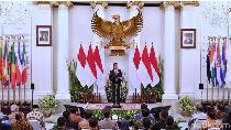 Bangganya Jokowi Bisa Foto di Bawah Burung Garuda Pancasila