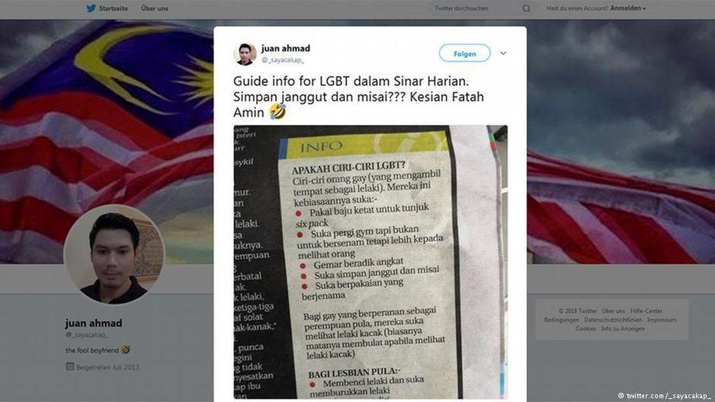 Bikin Daftar Ciri-ciri Gay dan Lesbian, Harian Malaysia Dikecam Warganet